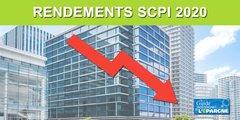Chute de revenus des SCPI au 1er trimestre 2020, mais rendement moyen 2020 attendu en baisse de seulement -10% selon Linxea