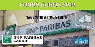 Assurance-Vie BNP Paribas CARDIF, taux 2019 des fonds euros, de 1% à 1.40%