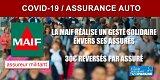 COVID-19 / la MAIF reverse 30€ à chacun de ses assurés auto, un impact positif du confinement