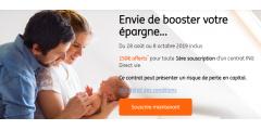 Assurance-Vie ING Direct Vie : 150€ offerts pour 300€ versés, jusqu'au 8 octobre 2019