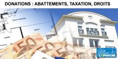 Donations 2020, abattements, barème de taxation, calcul des droits
