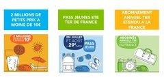 SNCF / Billets à prix cassés / TER de France : Voyagez partout en France cet été pour 29 euros par mois !