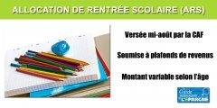 Allocation de Rentrée Scolaire 2020 (ARS) : les plafonds pour en bénéficier re-évalués de +1.60%