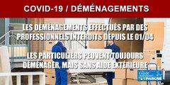 COVID-19 : les déménagements effectués par des professionnels sont désormais interdits