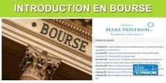 Introduction en bourse réussie pour Mare Nostrum (FR0013400835)