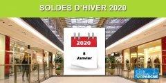 Soldes d'hiver 2020 : du mercredi 8 janvier 2020 au mardi 4 février 2020