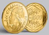 Monnaies en OR pur : pièces de 1.000€ et 5.000€, série limitée Marianne 2017, du 19 avril au 3 juillet 2017