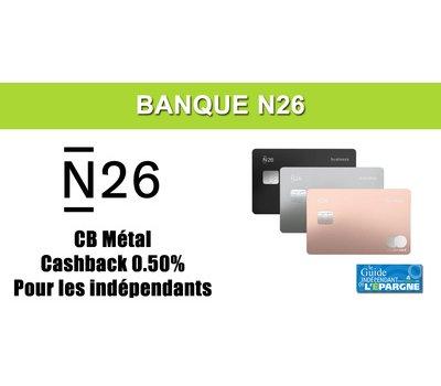 N26 Business Metal : nouvelle offre pour les auto-entrepreneurs avec un cashback de 0.50% sur tous les achats