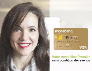 Monabanq innove en proposant la CB Visa Premier sans condition de revenus
