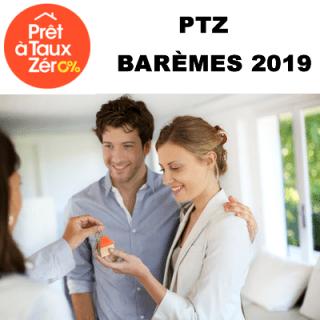 Prêt à Taux Zéro 2019 (PTZ) : barèmes, conditions, taux