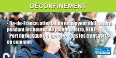 Ile-de-France : attestation employeur obligatoire dans le métro et RER entre 6h30 et 9h30 et de 16h à 19h