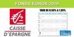 Assurance-Vie Caisse d'Épargne, taux 2019 des fonds euros, de 0.55% à 1.35%