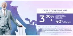 Livret épargne DISTINGO de PSA Banque : un taux de 3% brut, une prime de 40€, sous conditions, à saisir avant le 15 novembre 2019