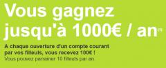 Gagnez jusqu'à 1.000 € en parrainant vos proches !