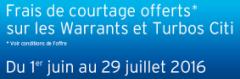 100 ordres offerts sur les Warrants et Turbos CITI chez Bourse Direct
