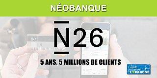 La néobanque N26 fête son 5e anniversaire avec 5 millions de clients