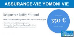 Assurance-Vie Yomoni Vie : jusqu'à 350€ offerts pour une 1ère adhésion avant le 2 décembre 2019