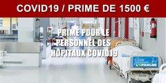 Prime de 1500 euros pour les soignants (professionnels hospitaliers)