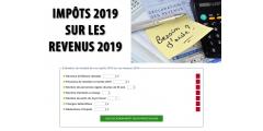 Calculette impôts 2019 (sur les revenus 2019)