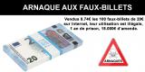 Arnaques / Faux billets de 5, 10, 20 et 50 euros : comment les reconnaître facilement ?