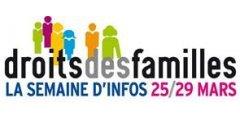 Lancement de la semaine du droit des familles le 25 mars !