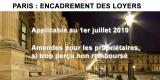 Location immobilière : application de l'encadrement des loyers à Paris au 1er juillet 2019