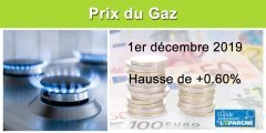 Tarifs du Gaz : hausse de +0.60% au 1er décembre 2019