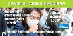 Éligibilité à l'aide financière de 1.500€ : une baisse de chiffres d'affaires de -50% suffit (au lieu de -70%)