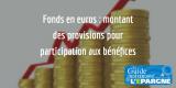 Fonds en euros : montants des provisions pour participation aux bénéfices (PPB), assureur par assureur
