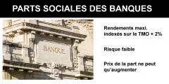 Parts sociales des banques : un bon plan épargne ?