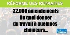 Réforme des retraites : 22.000 amendements déposés en commission à l'Assemblée