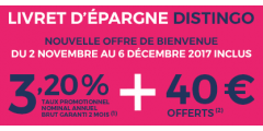 Livret épargne à 3.20% + 40€ offerts, encore 2 jours seulement pour en profiter !