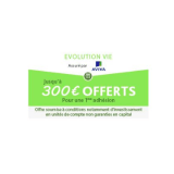 Assurance-Vie en ligne d'Aviva, Evolution Vie : 300€ offerts pour 8.000€ versés, sous conditions