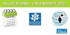 CAF : Calendrier 2020 du versement des allocations