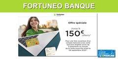 Fortuneo banque / compte courant avec CB MasterCard Gold : 150 euros offerts à saisir avant le 30 juin 2020
