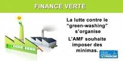 Finance verte : la lutte contre le green washing s'organise, l'AMF entend imposer des standards minimaux