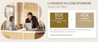 Cumulez les offres de bienvenue chez BforBank, jusqu'au 13 octobre, jusqu'à 320€ de prime offerte et plus encore...