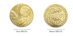 Monnaie de Paris : nouvelle pièce de 100€ OR, série COQ 2015