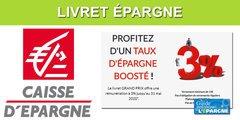 Livret épargne Grand Prix : jusqu'à 3% brut selon les caisses régionales de Caisse d'Épargne