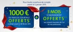 1.000€ et 3 mois de conseils boursiers offerts chez Binck !
