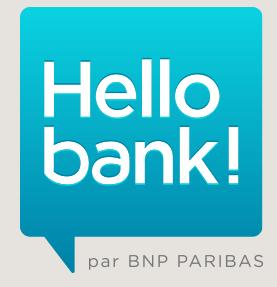 Banque en ligne / BNP Paribas : Hello bank vous salue !