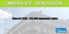 Immobilier : objectif de rénovation de 136.000 logements en 2020