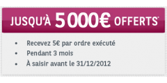 Investir en bourse : Jusqu'à 5 000 € offerts chez Cortal Consors !