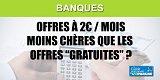 Comparatif des offres des banques à 2€ par mois