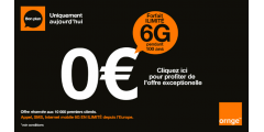 Forfait mobile Orange 6G illimité, pendant 100 ans, pour 0€ / mois !