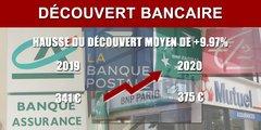 Banque : le découvert moyen augmente de près de 10% en 2020, pour passer à 375 euros