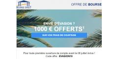 Investir en bourse ? 1.000€ offerts sur vos frais de courtage avec Bourse Direct jusqu'au 8 juillet 2019