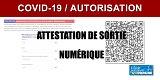 COVID-19 : le générateur d'attestation numérique de déplacement est en ligne