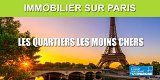 Immobilier sur Paris : quels sont les quartiers les moins chers ?