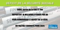 Déficit de la Sécurité Sociale : 90 milliards d'euros à rembourser en 4 ans, CRDS et CSG font recettes